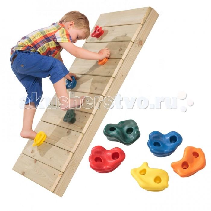 KMS-sport Камни для восхождения пластмассовые цветныеКамни для восхождения пластмассовые цветныеКамни для восхождения станут прекрасным дополнением к деревянному ДСК.  Крепление: на любую деревянную поверхность  Комплектация: 5 шт пластмассовых камней  Допустимая нагрузка: 70 кг<br>