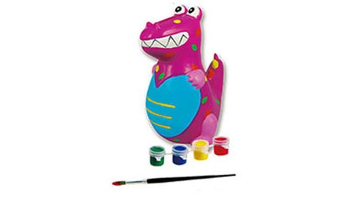 Копилка-раскраска Набор для творчества ДракончикНабор для творчества ДракончикКопилка-раскраска Набор для творчества Дракончик.  Набор для творчества - копилка, краски и кисточка в красочной коробке с европодвесом. У вас получится дракончик, если вы приложите немного усилий! Материал - приятный на ощупь пластик, на него прекрасно ложится краска, входящая в набор. Копилка рельефная, поэтому ребенок может с легкостью реализовать свой творческий потенциал, развивая аккуратность и усидчивость!  Все копилки в этой серии: не бьются, безопасны для детей приятные на ощупь легко раскрашивать открываются снизу, копилки не надо разбивать, чтобы достать накопления. В комплекте:  копилка  краски 4 цветов кисточка. Как раскрасить копилку:  1. Придумайте, какими цветам вы раскрасите части фигурки  2. Аккуратно смешайте краем следуя инструкции, чтобы получить нужный цвет  3. Раскрасьте копилку и дайте обсохнуть. Если вы хотите получить более насыщенный цвет, покройте фигурку вторым слоем краски.  Информация на упаковке - на русском языке Упаковка: цветная картонная коробка.<br>