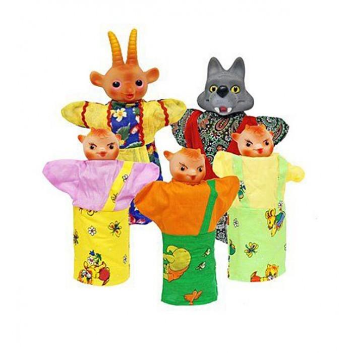 Русский стиль Кукольный Театр Козлята и волкКукольный Театр Козлята и волкРусский стиль Кукольный Театр Козлята и волк. Кукольный театр как и раньше сейчас достаточно востребован. И по популярности не уступает ни цирковым, ни театральным представлениям. Детки с удовольствием смотрят кукольные постановки, кричат, когда герой в опасности, подсказывают куда бежать или помогают добрым персонажам решить трудные задачки.  Можно придумать свою историю и развернуть интересную захватывающую игру. В процессе игры у ребенка развивается мелкая моторика рук, фантазия и творческие способности.  Развивает: мелкую моторику фантазию и творческие способности зрительное и слуховое восприятие<br>
