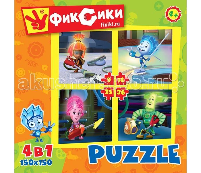 Origami Фиксики Пазл 4 в 1 12549 (9, 16, 25, 36 элементов)Фиксики Пазл 4 в 1 12549 (9, 16, 25, 36 элементов)Origami Фиксики Пазл 4 в 1 12549 (9, 16, 25, 36 элементов). Набор пазлов на 9,16,25,36 деталей. Станет отличным развивающим досугом ребёнку, и поспособствует развитию мелкой моторики рук, зрительной памяти, внимательности.   Пазл за пазлом ребёнок будет узнавать о весёлых приключениях Фиксиков.  Размер пазлов 4 * 15 х 15 см<br>