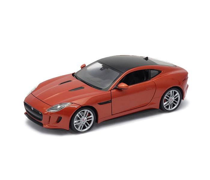 Welly Модель машины 1:24 Jaguar F-TypeМодель машины 1:24 Jaguar F-TypeМодель машины Welly 1:24 Jaguar F-Type  Коллекционная модель машины Jaguar F-Type от Welly сделана по лицензии автопроизводителя, поэтому является точной копией настоящего автомобиля.  У машины прорезиненные колеса, открываются капот и двери, фары выглядят очень реалистично.   Машина Ягуар F-Type - двухместный родстер, выпуск которого начался в 2013 году. Модели этого типа являются приемниками одних из самых популярных спортивных Ягуаров прошлого века. Родстеры Jaguar F-Type разгоняются до 300 км/ч, а количество лошадиных сил варьируется от 325 до 495, в зависимости от модели и комплектации.<br>