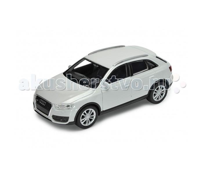Welly Модель машины 1:34-39 Audi Q3Модель машины 1:34-39 Audi Q3Модель машины Welly 1:34-39 Audi Q3 - это точная уменьшенная копия автомобиля этой марки, выполненная в белом цвете. Машинка выполнена из материалов высокого качества, прочных и долговечных - игрушка прослужит вам долгие годы. Модель может стать ценным экземпляром для коллекционеров игрушечных автомобилей.  Audi Q3 - это автомобиль премиум-класса, который вышел в свет в 2011 году, на его разработку ушло около 4 лет. Стильный дизайн кроссовера выполнен в лучших традициях компании-производителя: уникальная концепция купе подчеркивает спортивный характер автомобиля. Внутренний интерьер также выполнен в изысканном стиле с использованием благородных материалов.<br>
