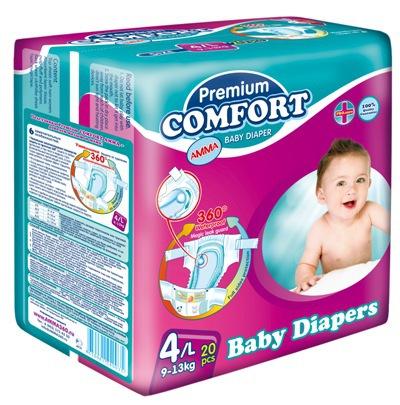 Подгузники Амма Подгузники Premium Comfort (9-13 кг) 20 шт.