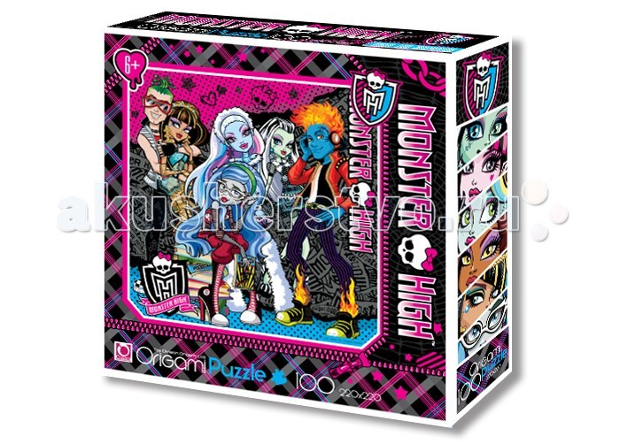 Origami Monster High Пазл 00193 (100 элементов)