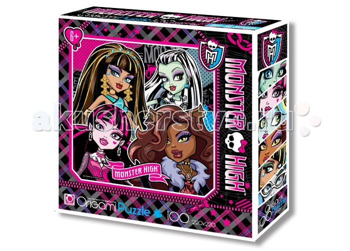 Origami Monster High Пазл 00194(100 элементов)