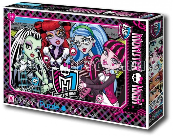 Origami Monster High Пазл 00216 (160 элементов)