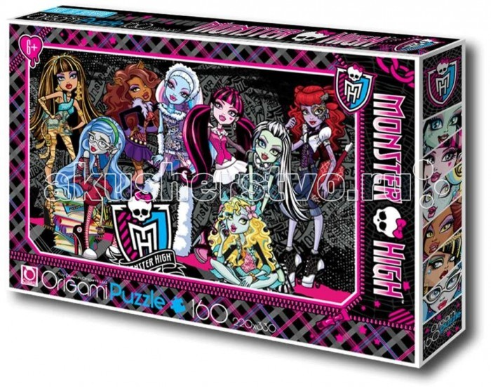 Origami Monster High Пазл 00219 (160 элементов)