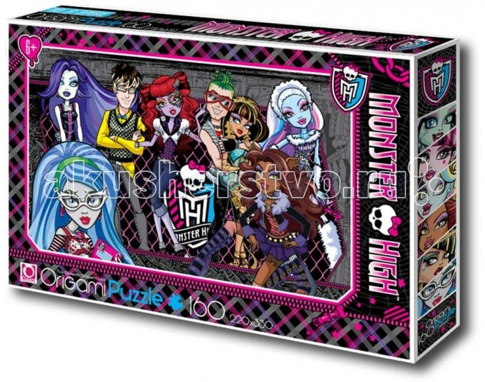 Origami Monster High Пазл 00220 (160 элементов)