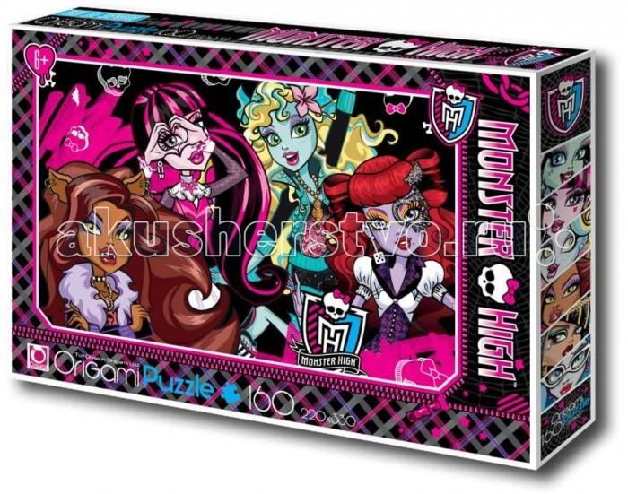 Origami Monster High Пазл 00222 (160 элементов)