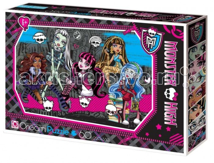 Origami Monster High Пазл 05908 (60 элементов)