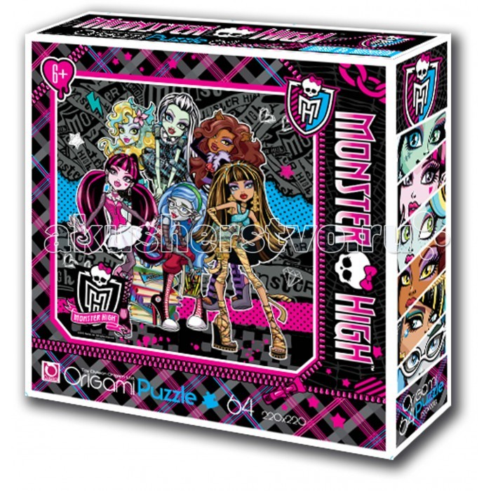 Origami Monster High Пазл 05925(64 элемента)