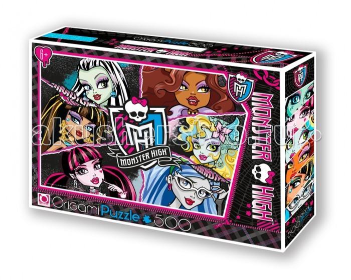 Origami Monster High Пазл 05354 (500 элементов) + маркер с блёсткамиMonster High Пазл 05354 (500 элементов) + маркер с блёсткамиOrigami Monster High Пазл 05354 (500 элементов) + маркер с блёстками. Пазл Monster High на 500 деталей. Собирая пазл, ребёнок в ненавязчивой игровой форме может развивать моторику рук и образное мышление.   Составление пазла станет развивающим досугом для малыша и подарит хорошее настроение, а персонажи Monster High расскажут свои удивительные истории.   Размер пазла 34 х 48 см<br>
