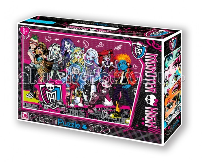 Origami Monster High Пазл 05490 (500 элементов) + маркер с блёстками