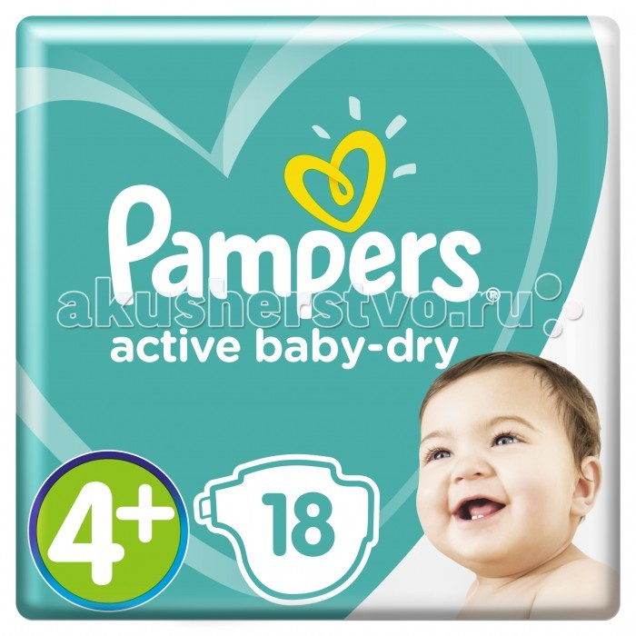 Pampers ���������� Active Baby Dry �.4+ (9-16 ��) 18 ��.