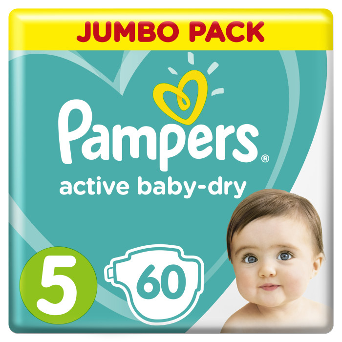 Pampers ���������� Active Baby Dry Junior �.5 (11-18 ��) 58 ��.
