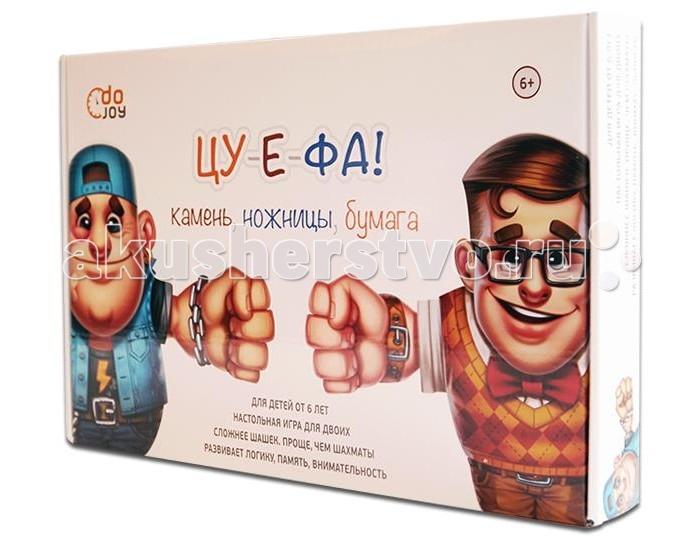 Dojoy Настольная игра Камень, ножницы, бумага — ЦУ-Е-ФА!Настольная игра Камень, ножницы, бумага — ЦУ-Е-ФА!Dojoy Настольная игра Камень, ножницы, бумага — ЦУ-Е-ФА! DJ-BG02   Камень, ножницы, бумага — ЦУ-Е-ФА! — необычная и увлекательная настольная игра на основе всемирно известного способа разрешения споров на пальцах. Игра очень понравится детям и подросткам, так как она сложнее шашек и проще, чем шахматы.На доске выстраиваются персонажи игры: с одной стороны 12 хулиганов, а с противоположной — размещается команда ботанов. Игроки в тайне друг от друга прикрепляют к спинам персонажей своей команды игровые предметы: камень, ножницы, бумагу, динамит и флаг команды.Задача каждого участника игры — найти и захватить флаг соперника. При столкновениях персонаж с более сильным предметом остается в игре, а проигравший персонаж — убирается с доски. Камень, ножницы, бумага — ЦУ-Е-ФА! — настольная игра для двоих, развивающая логику, память и внимательность.<br>