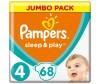 Pampers Подгузники Sleep & Play Ромашка р.4 (7-14 кг) 68 шт.