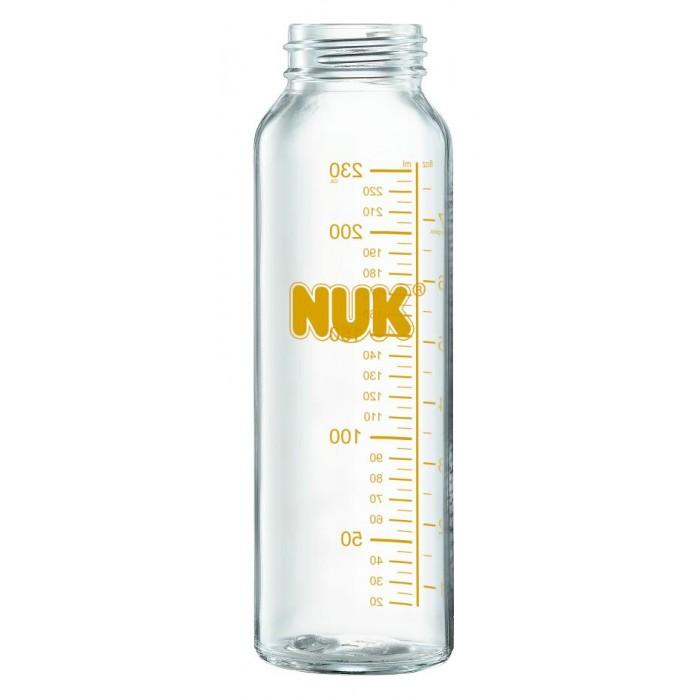 Бутылочка Nuk Klinik 230 млKlinik 230 млБутылочка Nuk Klinik 230 мл - это долговечное и прочное изделие, которое подходит для кормления младенцев с первых дней жизни.  Особенности: Бутылочка очень легко моется, стекло выдерживает перепады температур. Со временем изделие не накапливает мутный налет, не тускнеет.  На бутылке имеются отлично просматриваемые деления с малым интервалом. Это позволит отмерить ровно то количество молока или смеси, которое необходимо скормить малышу по показаниям врача. Компания NUK поддерживает грудное вскармливание детей раннего возраста. Эта бутылочка идеальна для кормления новорожденного малыша, в том случае, если естественное грудное вскармливание невозможно по каким-либо медицинским причинам. Поэтому она подходит в том числе и для кормления детей с расщелиной неба (волчьей пастью), с расщелиной губы (заячьей губой). В комплекте бутылочка без соски. Широкое устойчивое основание. Выполнена из прочного стекла. Легко мыть.  Рекомендации: при хранении накрывайте соску, храните отдельно от остальной посуды. Перед первым применением необходимо простерилизовать бутылочку (достаточно 5 минут подержать в кипящей воде. Для регулярной стерилизации применяйте специальные стерилизаторы.<br>