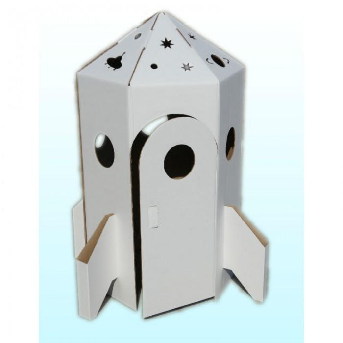 Игровой домик Балуем и Балуемся Набор из картона Ракета