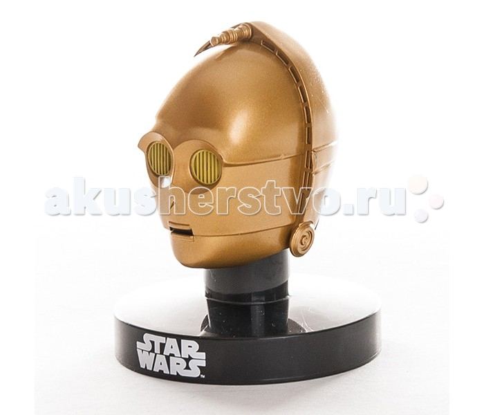 Star Wars Bandai шлем на подставке C3PO