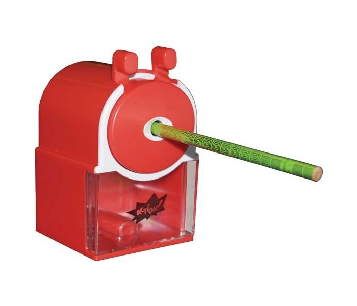 Action Механическая точилка УлиткаМеханическая точилка УлиткаМеханическая точилка для карандашей Улитка  Особенности:   Пластиковый корпус  Блистер c е/подвесом<br>