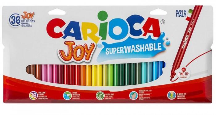 Фломастеры Carioca Набор фломастеров Joy, 36 цв., в пластиковой блистерной упаковке