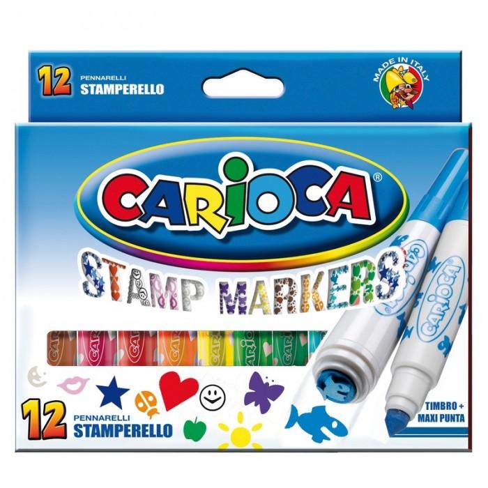 Фломастеры Carioca Набор фломастеров Stamp Markers, 12 цв.