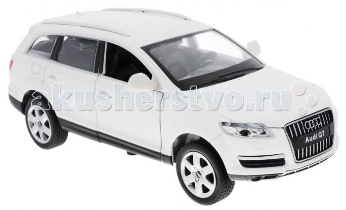 Maxitoys Машинка Инерционная Ауди 1:24Машинка Инерционная Ауди 1:24Maxitoys Машинка Инерционная Ауди 1:24  Модель автомобиля Audi Q7 - это точная копия оригинальной машины в масштабе 1:24. Выполненная из высококачественного металла и пластика, она обязательно понравится не только ребенку, но и взрослому.  Особенности: Игрушечная модель оснащена металлическим корпусом и подвижными колесами Передние двери машинки, капот и багажник открываются, салон детализирован Модель дополнена световыми и звуковыми эффектами Игрушка оснащена инерционным ходом. Для того чтобы автомобиль поехал вперед, необходимо его отвести назад, а затем резко отпустить  Прорезиненные колеса обеспечивают надежное сцепление с любой поверхностью пола.   Возраст: от 3 лет В комплекте батарейки: 3 AG13 (LR44) Масштаб модели: 1/24<br>