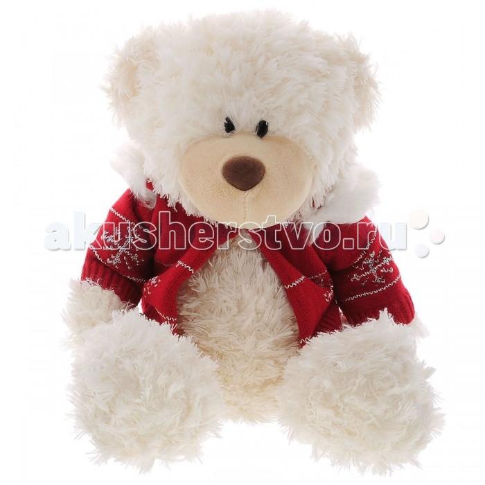 Мягкая игрушка Plush Apple Медведь в свитере 35 смМедведь в свитере 35 смМедведь в свитере 35 см.  С игрушкой можно придумать множество интересных сюжетов для игр, а также очень приятно засыпать вечером.   Игрушка изготовлена из экологически чистых материалов и не навредит ребенку.<br>