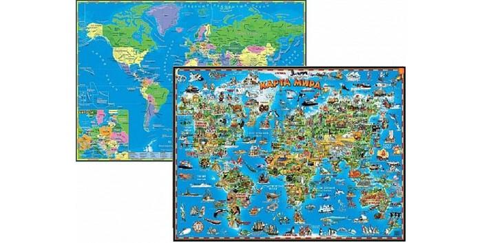 Геоцентр Детская карта мира двусторонняя настольная от Акушерство