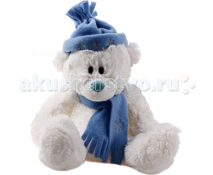 Мягкая игрушка Plush Apple Медведь Белый с шарфом и шапкойМедведь Белый с шарфом и шапкойМедведь Белый с шарфом и шапкой.  Любимый мишка – это одна из самых желанных игрушек для детей. Мишка в Свитере (свитер можно снять) от торговой марки Plush Apple - это не только очаровательная мордашка и забавный образ, но и отменное качество изделия. Вызывает приятные тактильные ощущения.   С игрушкой можно придумать множество интересных сюжетов для игр, а также очень приятно засыпать вечером.   Игрушка изготовлена из экологически чистых материалов и не навредит ребенку.<br>