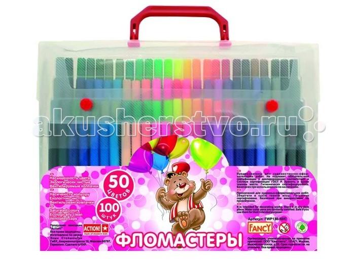 Фломастеры Action Набор фломастеров Fancy 100 шт., 50 цветов FWP130-50/C