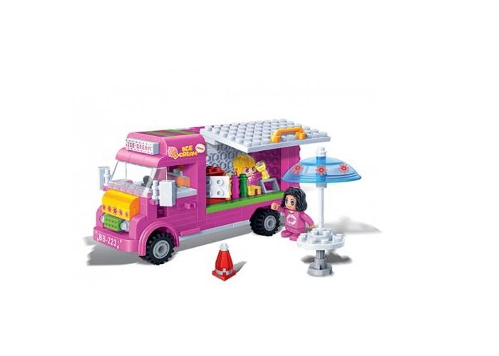 Конструктор BanBao Машина с мороженым 223 деталиМашина с мороженым 223 деталиКонструктор Машина с мороженым.  Данный игровой набор понравится любой малышке, которая сможет придумать множество разнообразных игр.   В наборе 223 детали. Конструктор рекомендован для детей старше 5 лет.<br>