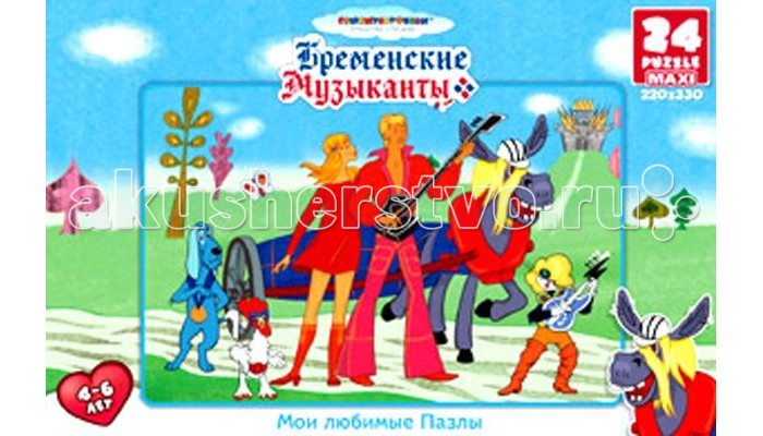 Origami СМФ Пазл Бременские музыканты (24 элемента)