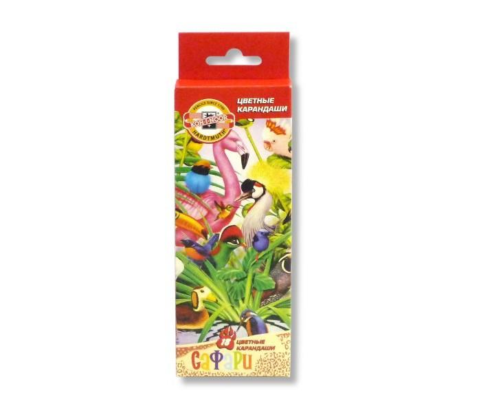 Koh-i-Noor Набор цветных карандашей Птицы, 18 цветов