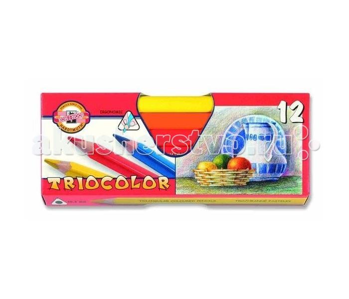 Koh-i-Noor Набор цветных художественных карандашей Triocolor, 12 цветов