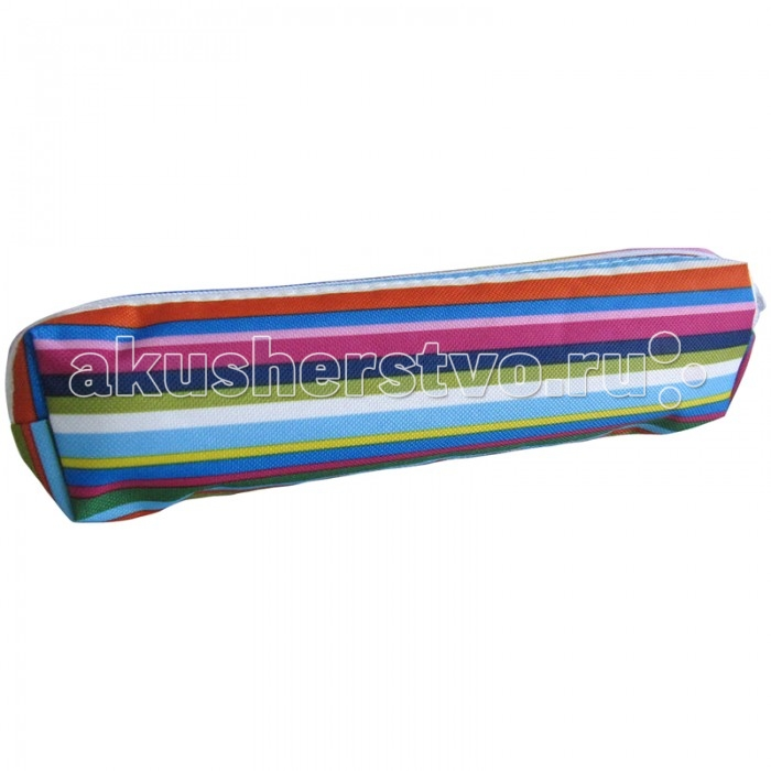 Спейс Пенал-косметичка 190х45х30 Color stripes полиэстерПенал-косметичка 190х45х30 Color stripes полиэстерСпейс Пенал-косметичка 190х45х30 Color stripes полиэстер Sh_8197  Пенал-косметичка, размер 190х45х30 мм, с одним отделением на молнии, материал - полиэстер<br>