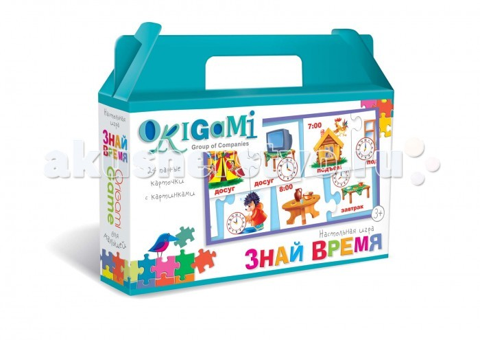 Origami Настольная игра Знай время