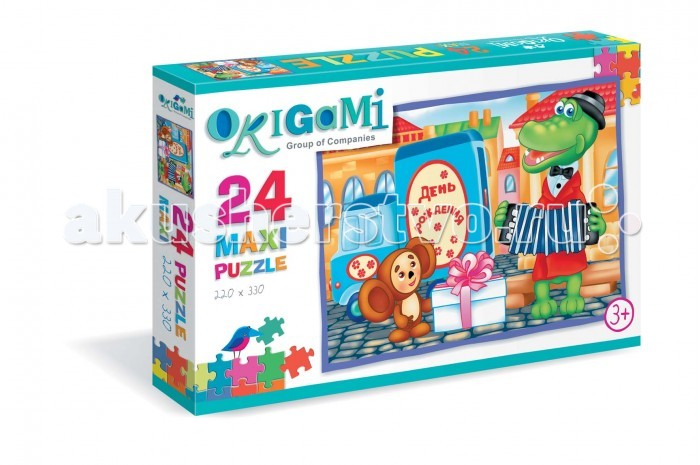 Origami Пазл Гена и Чебурашка (24 элемента)Пазл Гена и Чебурашка (24 элемента)Origami Пазл Гена и Чебурашка (24 элемента). Пазл на 24 элемента. Собирая пазл, ребёнок в ненавязчивой игровой форме сможет развивать мелкую моторику и образное мышление.   Составление пазла станет развивающим досугом для малыша и подарит хорошее настроение.<br>