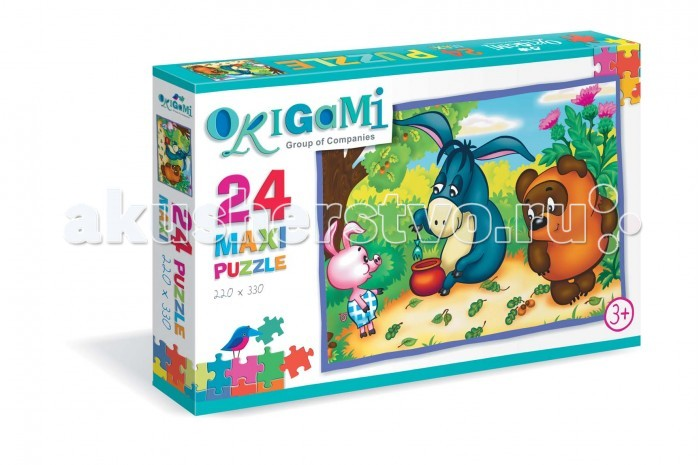 Origami Пазл Винни Пух (24 элемента)