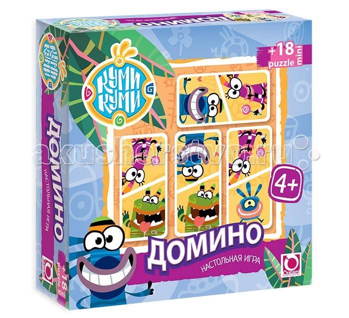 Origami Куми-Куми Настольная игра Домино + пазл (18 элементов)Куми-Куми Настольная игра Домино + пазл (18 элементов)Origami Куми-Куми Настольная игра Домино + пазл (18 элементов). Настольная игра Домино - увлекательная и очень интересная игра, которая учит ребёнка думать, логически размышлять и анализировать.   Игра направлена на развитие внимания, образного восприятия и зрительной памяти. А трое друзей: Юси, Джуга и Шумадан в забавных сюжетах о своих приключениях, сделают игру яркой и занимательной.   Размер пазла 15,3 х 7,8 см<br>