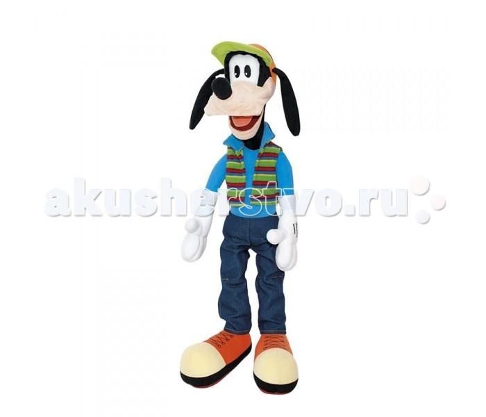 Мягкая игрушка Disney Гуфи 45 смГуфи 45 смМягкая игрушка Disney Гуфи - это игрушка от которой ваш ребенок придет в восторг. Игрушка изготовлена из безопасных высококачественных синтетических материалов, которые абсолютно безвредны для ребенка.   Особенности: Модель способствует развитию у детей воображения, усидчивости, тактильной  Компактную и легкую игрушку малыш всегда сможет брать с собой на прогулку. Крепкие швы надежно удерживают набивку игрушки внутри.  Такая очаровательная игрушка окажется хорошим подарком не только детям, но и взрослым.<br>