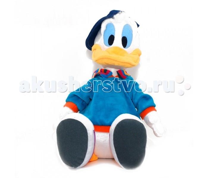 Мягкая игрушка Disney Дональд Дак 50 смДональд Дак 50 смМягкая игрушка Disney Дейзи Дак - это игрушка от которой ваш ребенок придет в восторг. Игрушка изготовлена из безопасных высококачественных синтетических материалов, которые абсолютно безвредны для ребенка.   Особенности: Утенок говорит фразы Что за шуточки?, Это еще что такое?, а также смеется, крякает и дразнится. Модель способствует развитию у детей воображения, усидчивости, тактильной  Компактную и легкую игрушку малыш всегда сможет брать с собой на прогулку. Крепкие швы надежно удерживают набивку игрушки внутри.  Такая очаровательная игрушка окажется хорошим подарком не только детям, но и взрослым.<br>