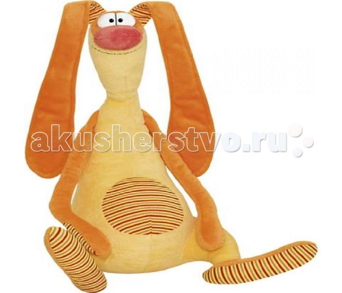 Мягкая игрушка Fancy Зайка улыбайка 54 смЗайка улыбайка 54 смМягкая игрушка Fancy Зайка улыбайка - это игрушка от которой ваш ребенок придет в восторг. Игрушка изготовлена из безопасных высококачественных синтетических материалов, которые абсолютно безвредны для ребенка.   Особенности: Модель способствует развитию у детей воображения, усидчивости, тактильной  Компактную и легкую игрушку малыш всегда сможет брать с собой на прогулку. Крепкие швы надежно удерживают набивку игрушки внутри.  Такая очаровательная игрушка окажется хорошим подарком не только детям, но и взрослым.<br>