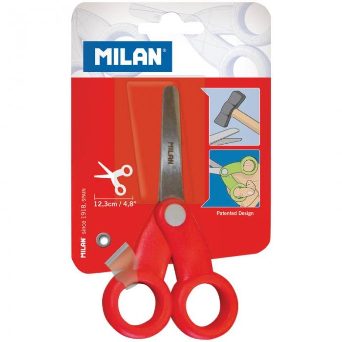 Milan Ножницы детские 12.3 смНожницы детские 12.3 смMilan Ножницы детские 12.3 см   Ножницы с закругленными концами. Пластиковые лезвия с максимально возможным открытым положением 2 см, винт безопасности интегрирован в ручку. Противоударные эргономичные пластиковые ручки. Идеально подходят для использования детьми дошкольного возраста<br>