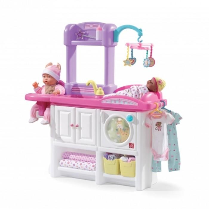 Step 2 Игровой центр Будущая мама 2Игровой центр Будущая мама 2Step 2 Игровой центр Будущая мама 2 станет отличным развлечением для ребенка.   Игровой центр Будущая мама разработан для игр в куклы: столик для пеленания с подвесными игрушками, место для кормления, раковина с краном, полочка для вещей, и конечно же стиральная машина, чтобы будущие мамы проявили любовь и заботу.<br>