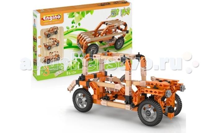 Конструктор Engino Eco Builds Внедорожники 3 в 1Eco Builds Внедорожники 3 в 1Engino Eco Builds Внедорожники 3 в 1.  Инновационная разработка Engino — гибридные конструкторы, которые содержат как пластмассовые, так и деревянные детали. При сборке моделей с деревянными элементами нет необходимости использовать клей или дополнительный крепеж. Серия Eco Builds объеденяет в себе тепло и экологичность дерева и широкие возможности пластиковых сборочных систем.  В комплекте:  инструкция для сборки 3 моделей внедорожников  инструмент для моментального разъединения мелких деталей.<br>