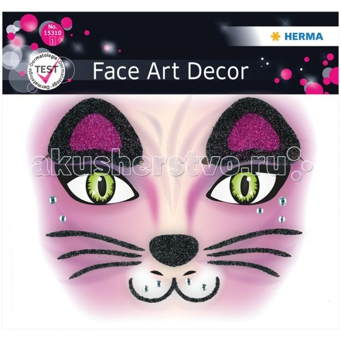 Herma Наклейки для лица 12х12.7 см Face Art CatНаклейки для лица 12х12.7 см Face Art CatHerma Наклейки для лица 12х12.7 см Face Art Cat  Face Art (фэйс арт) – это новое направление творчества и искусства. Face Art нравится людям, любящим оригинальность и необычность в жизни. Face Art d&#233;cor от Herma - это серия наклеек для фэйс арта с наиболее популярными мотивами. Face Art d&#233;cor от Herma гламурно, стильно и ярко! Прошел дерматологические испытания.  Материал – пленка Размер листа – 128 х 120 мм Количество листов – 1 Многоразовые – нет<br>