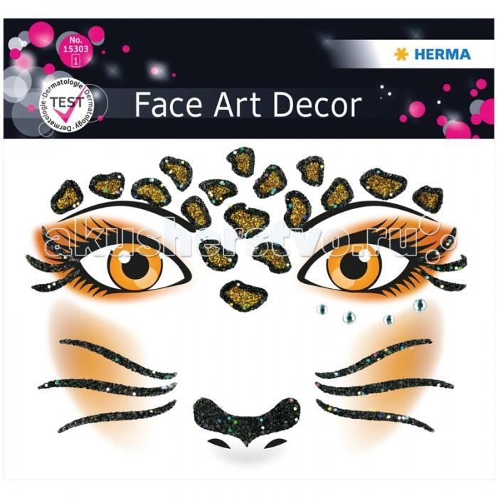 Herma Наклейки для лица 12х12.7 см Face Art LeopardНаклейки для лица 12х12.7 см Face Art LeopardHerma Наклейки для лица 12х12.7 см Face Art Leopard  Face Art (фэйс арт) – это новое направление творчества и искусства. Face Art нравится людям, любящим оригинальность и необычность в жизни. Face Art d&#233;cor от Herma - это серия наклеек для фэйс арта с наиболее популярными мотивами. Face Art d&#233;cor от Herma гламурно, стильно и ярко! Прошел дерматологические испытания.  Материал – пленка Размер листа – 128 х 120 мм Количество листов – 1 Многоразовые – нет<br>