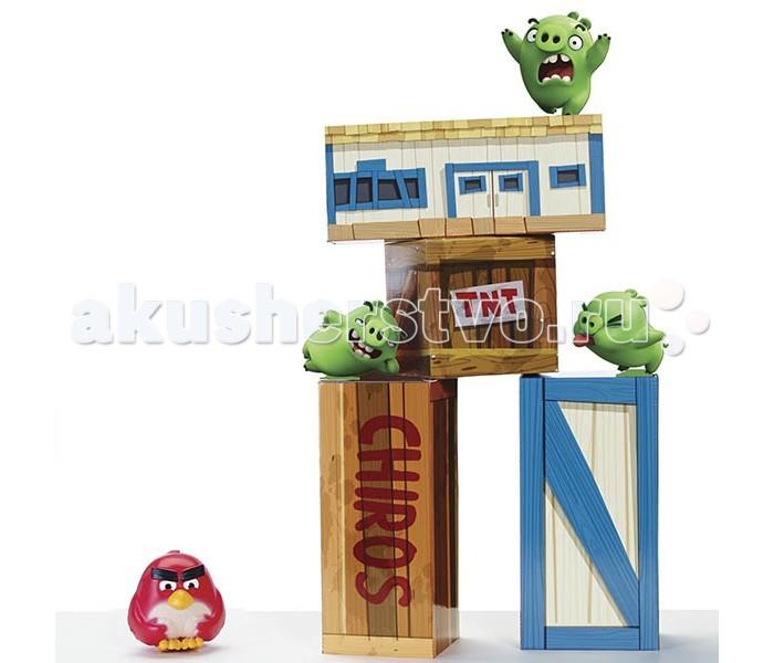 Angry Birds Игровой набор Взрывная птичкаИгровой набор Взрывная птичкаИгровой набор Взрывная птичка включает в себя виниловую птичку-шар, поросят, тяжелые кубики и блоки. Игра начинается с предварительной сборки и максимально точного воссоздания обстановки популярной компьютерной игры Angry Birds.  Следует быть осторожным, ведь по сюжету игры одна из коробок окажется сюрпризом (заминирована), и тогда твоя сердитая птичка может взорваться.  Потрясающий набор, созданный по мотивам популярнейшей компьютерной игры Angry Birds, станет отличным подарком как для поклонника игры, так и для всех, кто любит активные игры.   В комплект набора входят тяжелые кубики-блоки для постройки сооружения зеленых поросят, фигурки поросят, а также птичка-шар, которой Вам предстоит разрушать постройку из блоков.  Количество комплектующих: 1 птичка, 3 свиньи, 4 ящика. Размер упаковки: 0.11 х 0.36 х 0.25 м Вес: 1.36 кг<br>